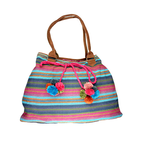 Berry Boho Beach Tote