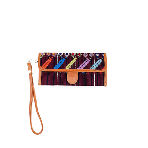 Colotenango Gusseted Trifold Wallet in Tan