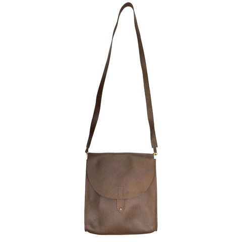 Juliette Leather Convertible Purse in Brown