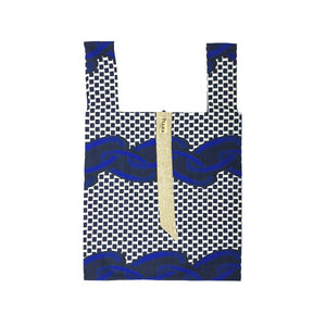 Market Tote in Blue & Black