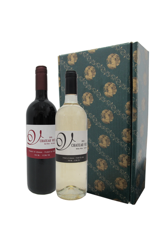 Chateau Victor *Red & White Wine + Green Gift Box