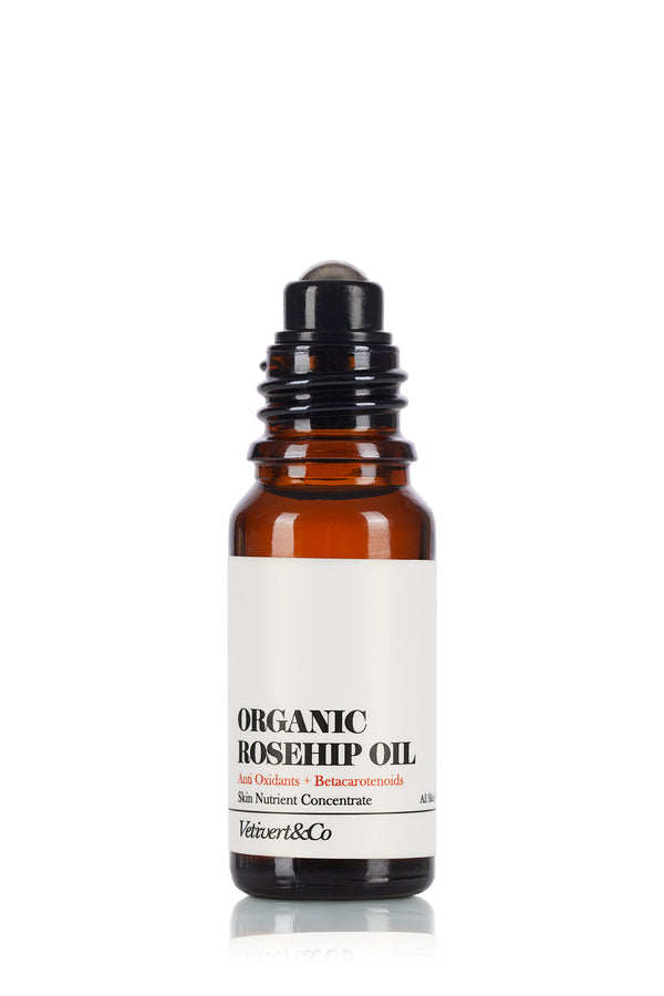 Organic Rosehip oil: Skin Nutrient Concentrate (rollerball applicator ) [For all skin types]