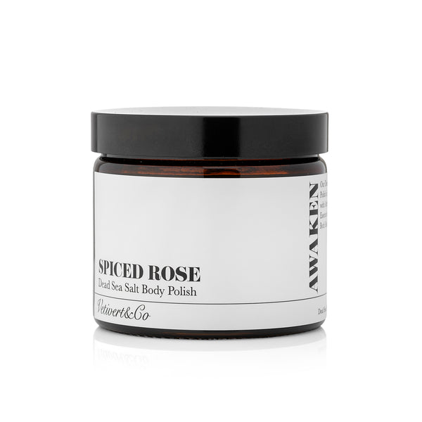 Dead Sea Salt Body Polish : Spiced Rose