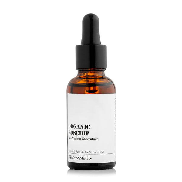 Organic Rosehip Oil: Skin Nutrient Concentrate.