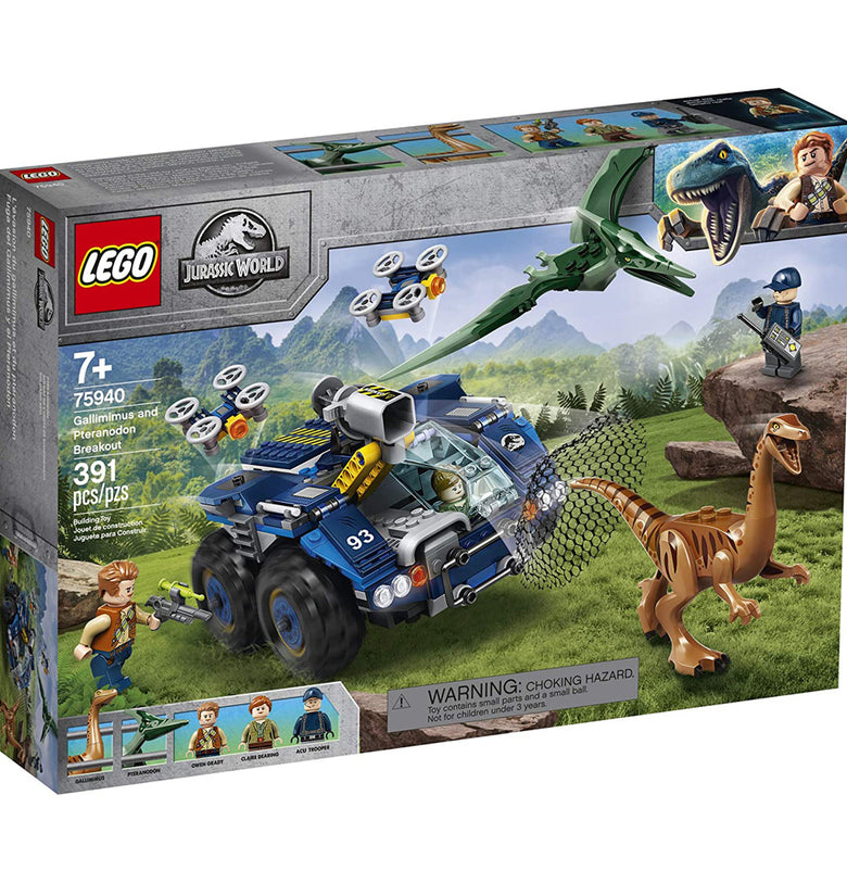 JURASSIC WORLD HUNT FOR THE GALLIMIMUS AND PTERANODON 75940