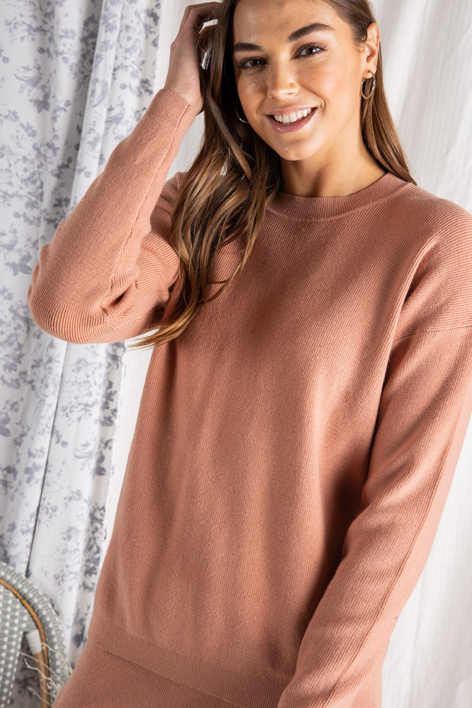 Paloma Sweater Set in Desert Rose