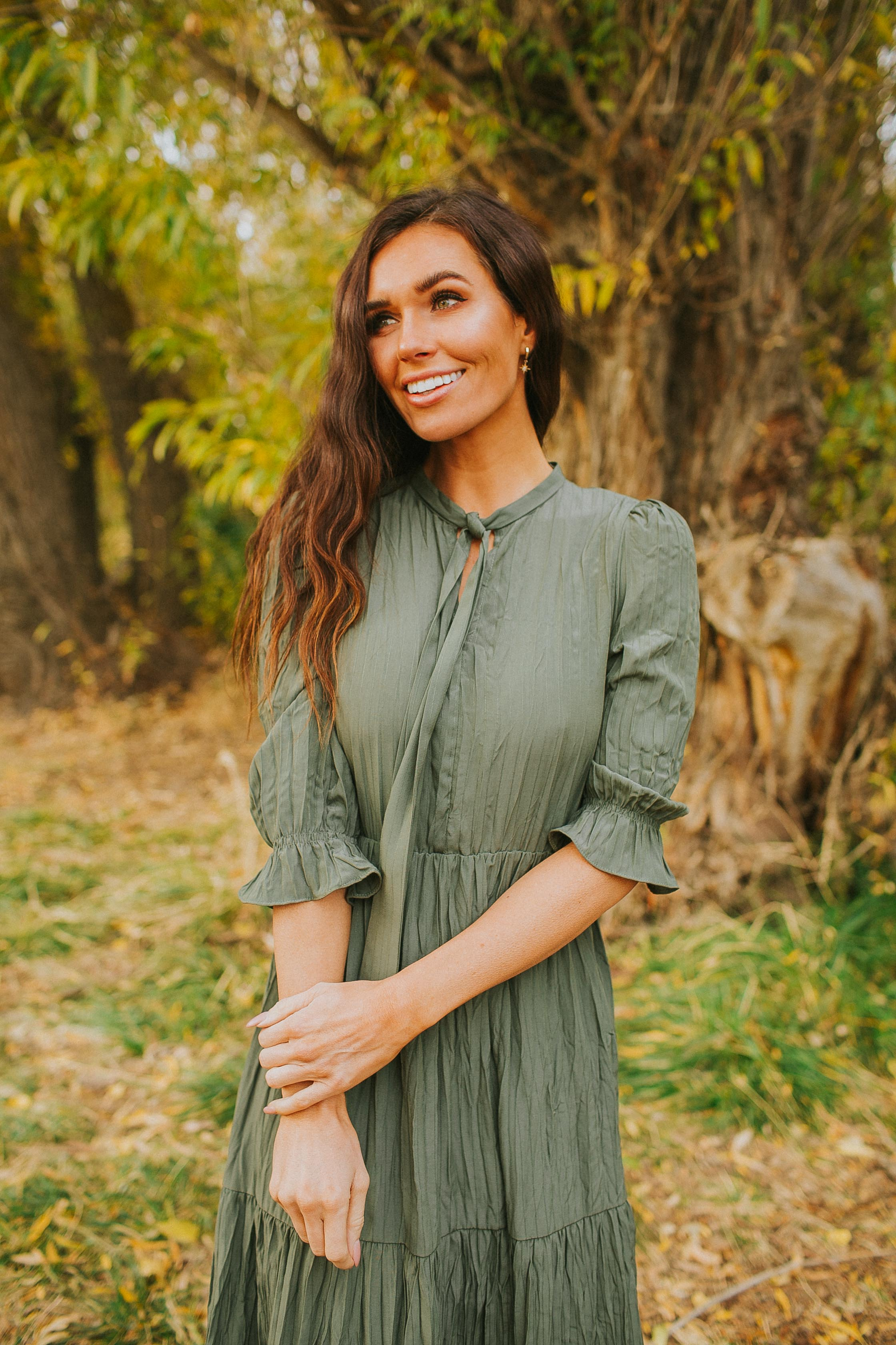Blakely Dress in Green