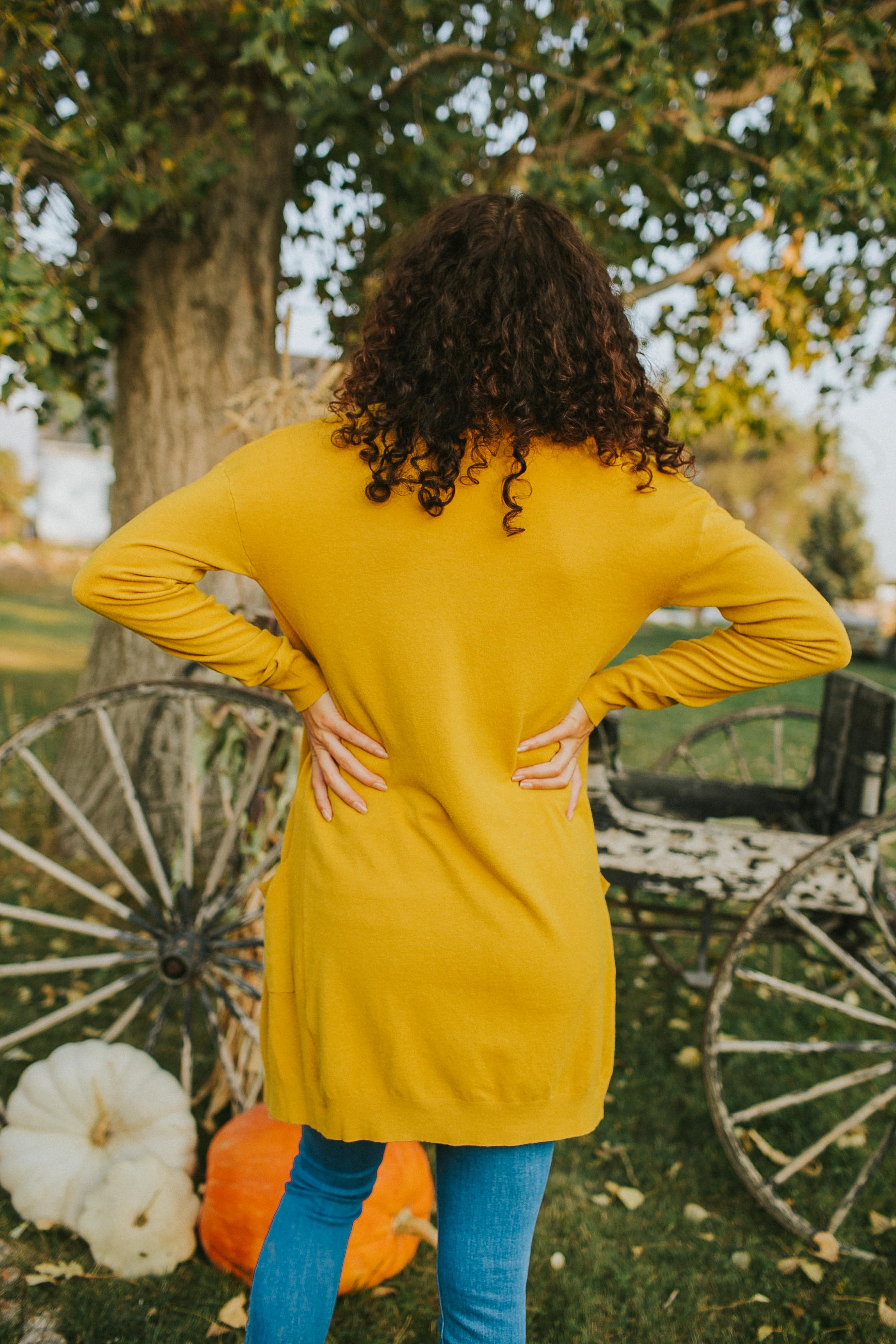 Billie Cardigan in Mustard