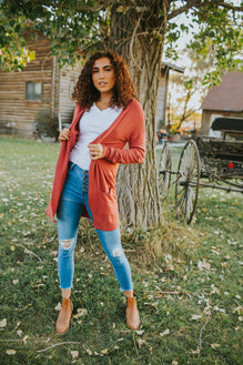 Billie Cardigan in Desert Rose