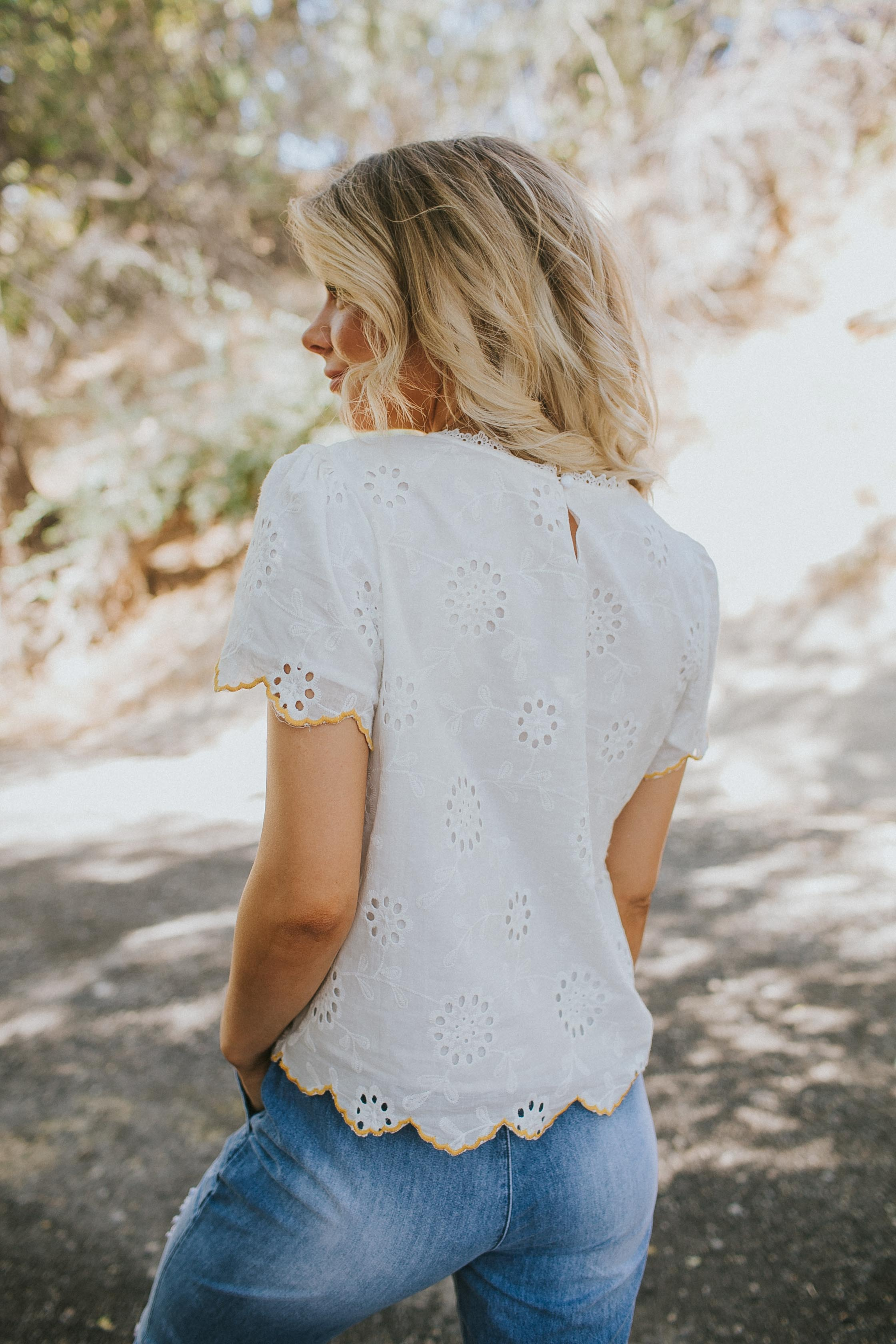 Arista Embroidered Top