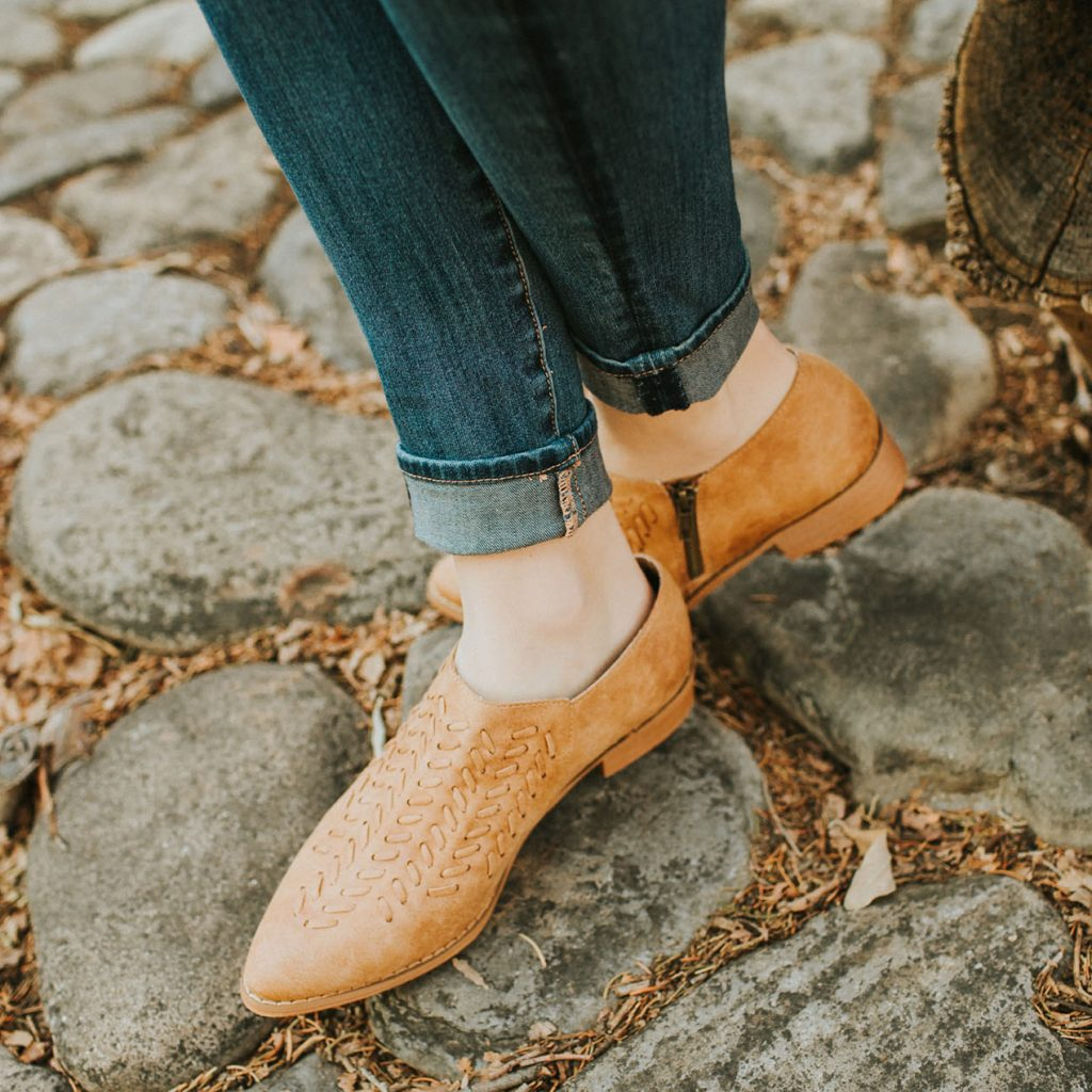 Braided Booties in Camel