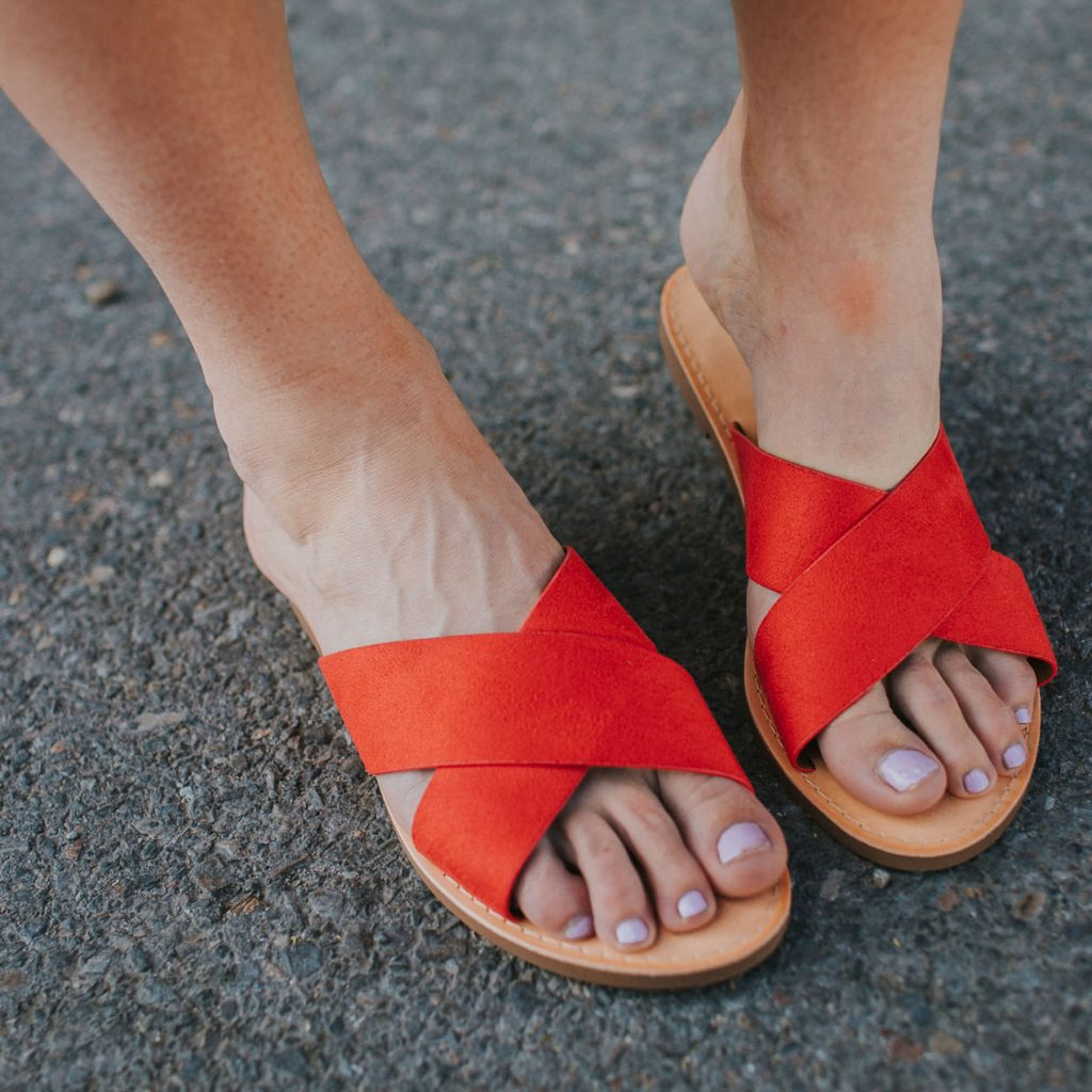Cross Your Heart Sandal