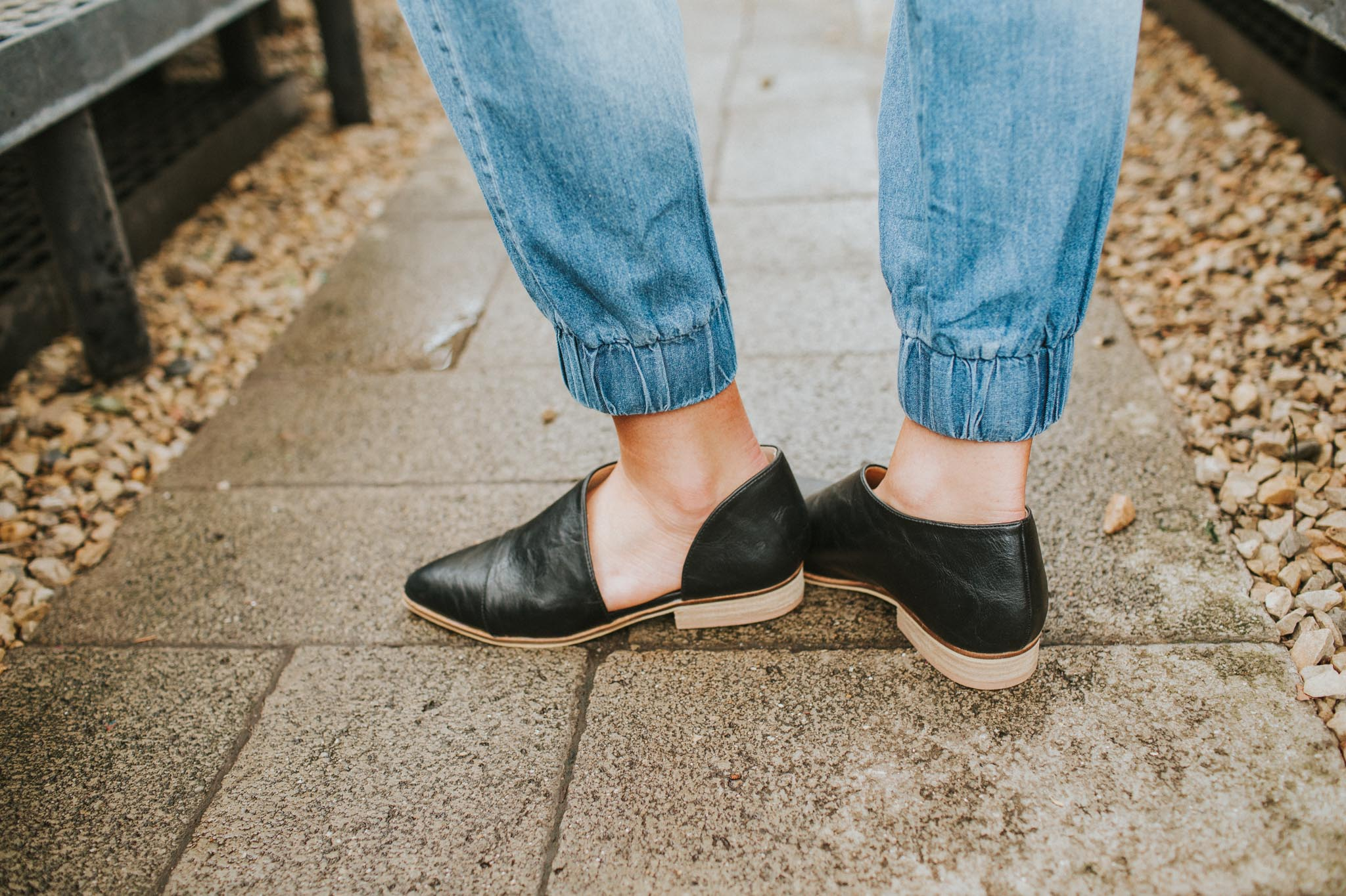Cut it Out Flats in Black