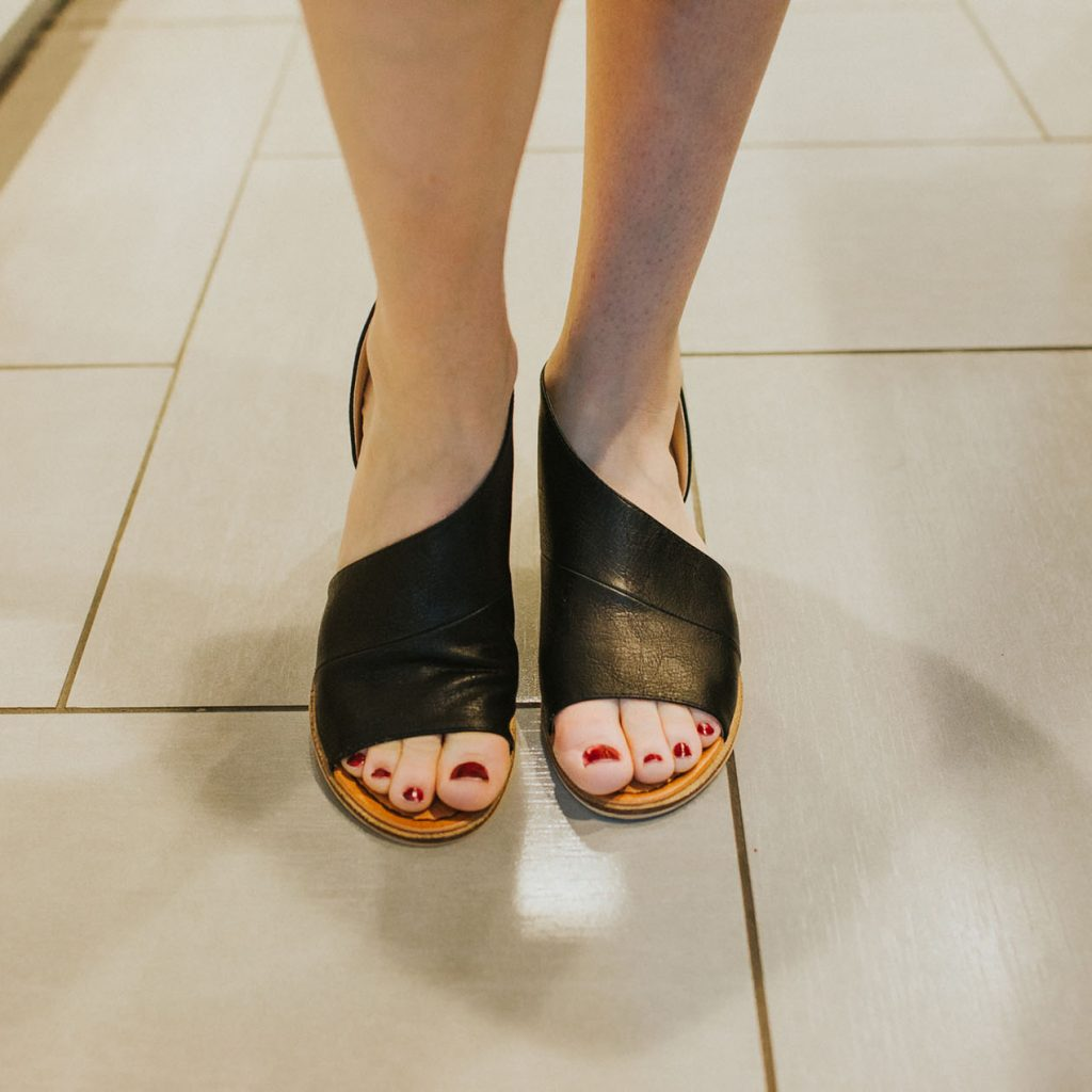Cut it Out Sandal in Black