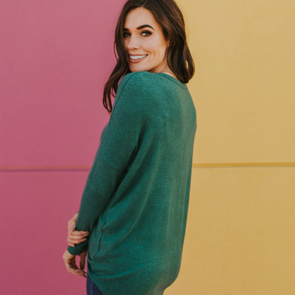 Perry Knotted Top in Green