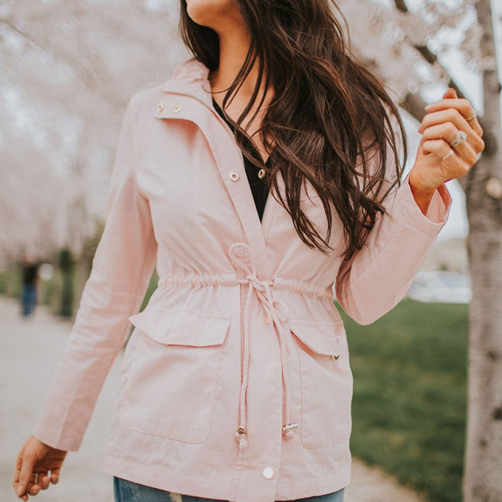 Utility Jacket in Blush