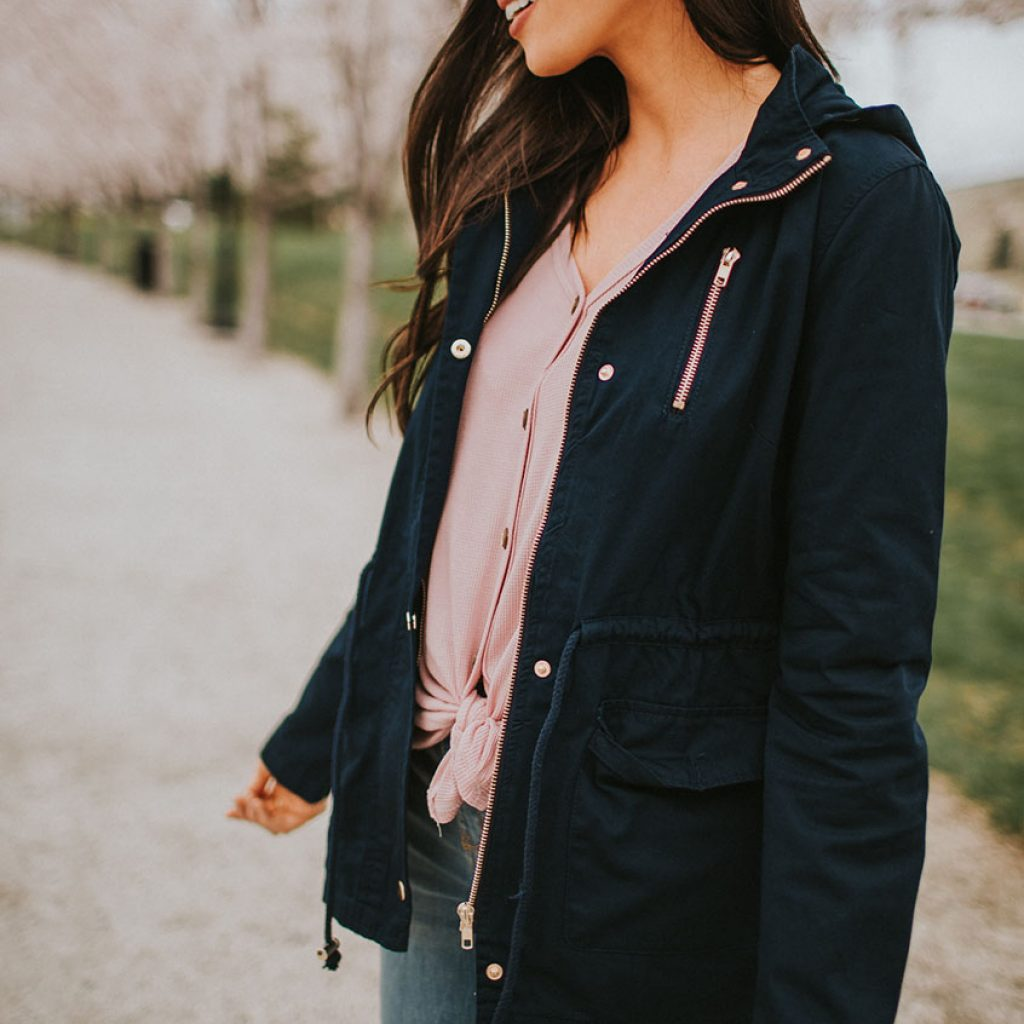 Utility Jacket in Navy