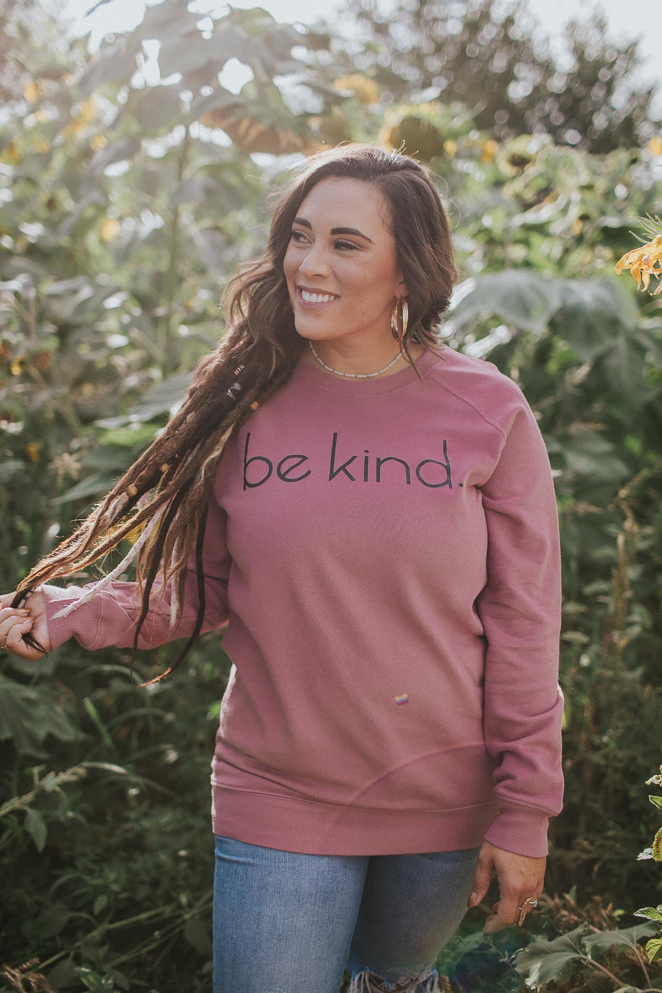 Be Kind Sweatshirt in Mauve