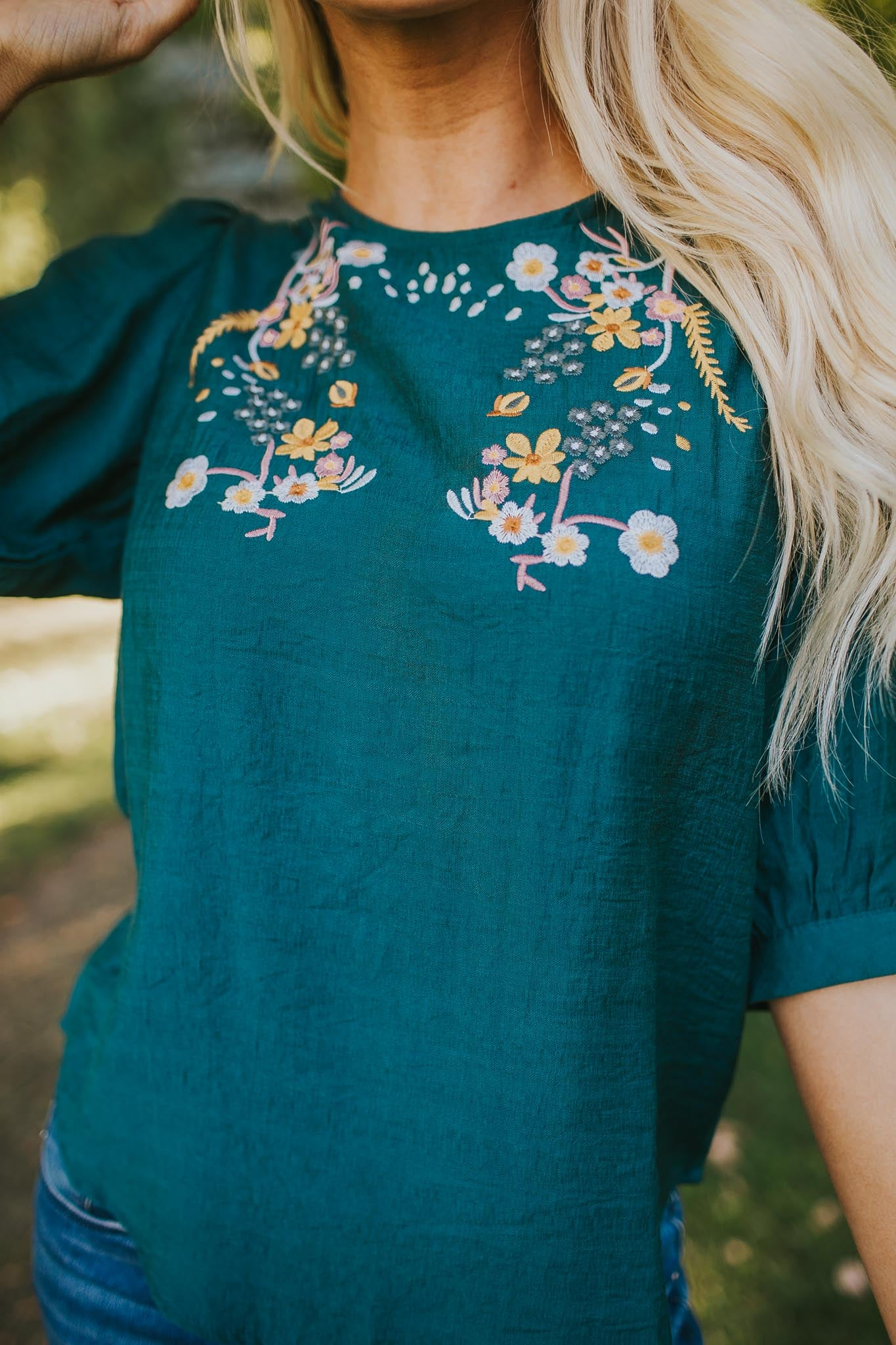 Serene Embroidered Top