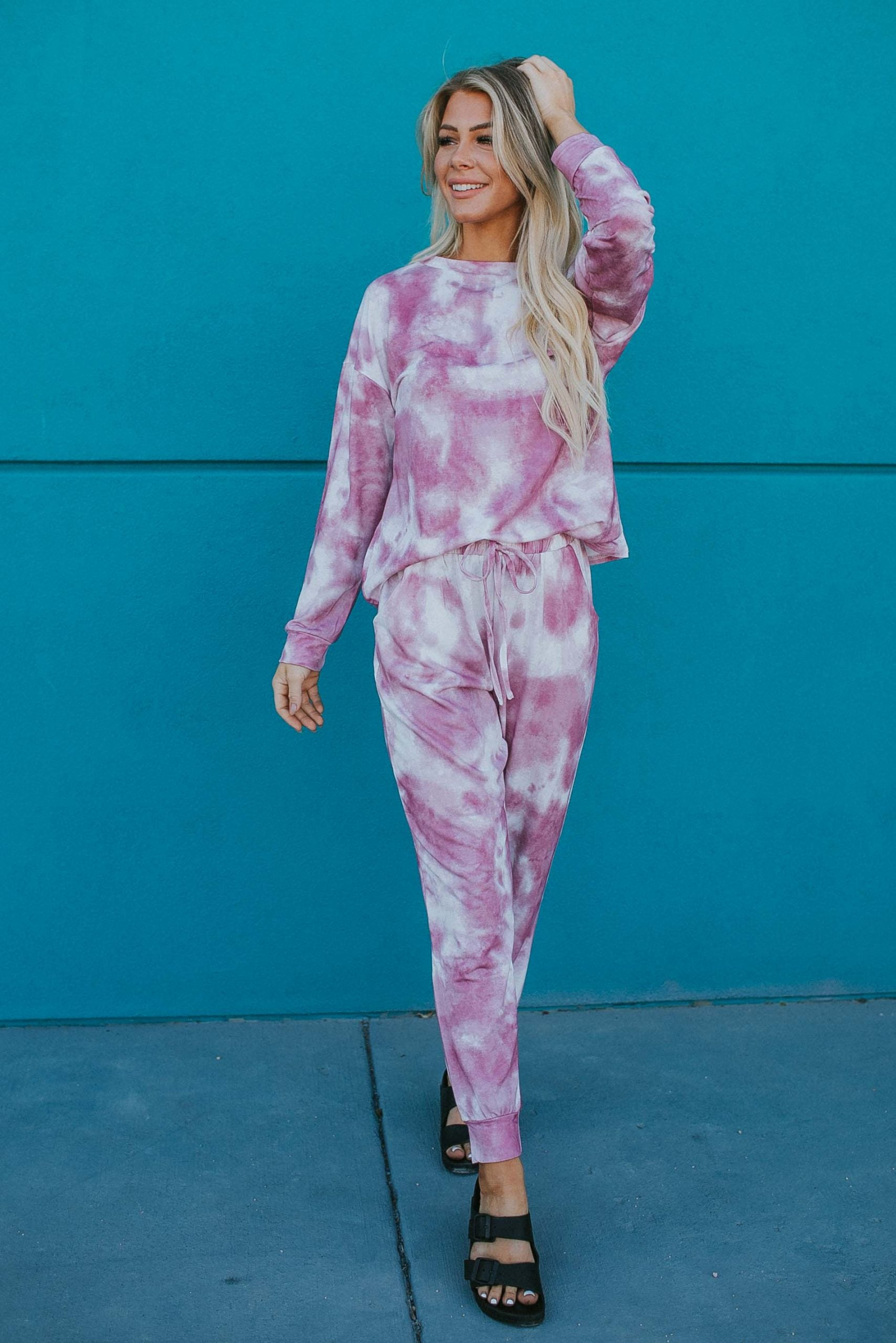 Tie Dye Loungewear Set in Pink