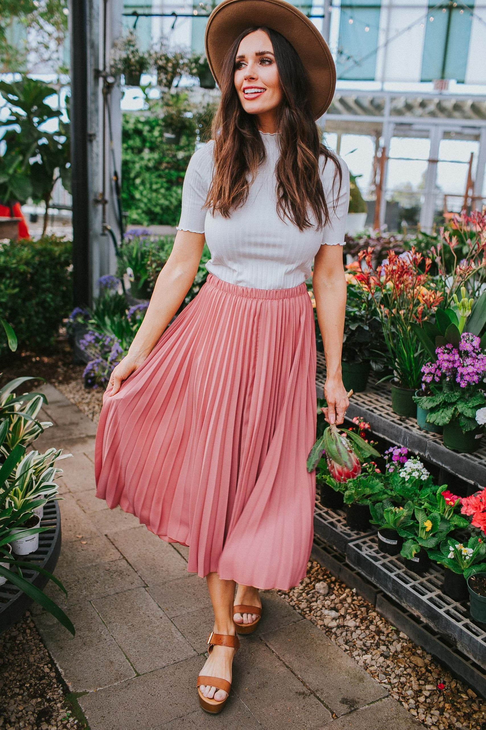 Holland Pleated Skirt