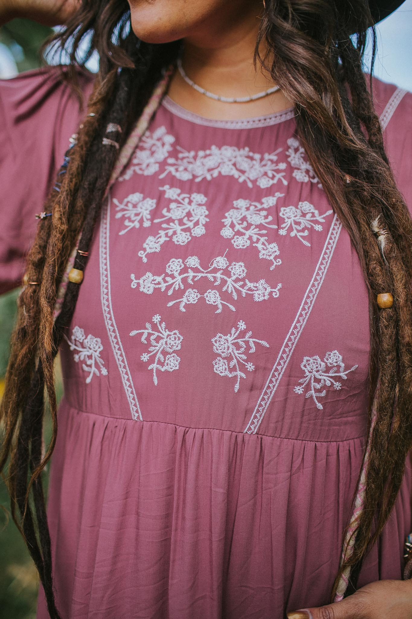 Corinne Embroidered Dress