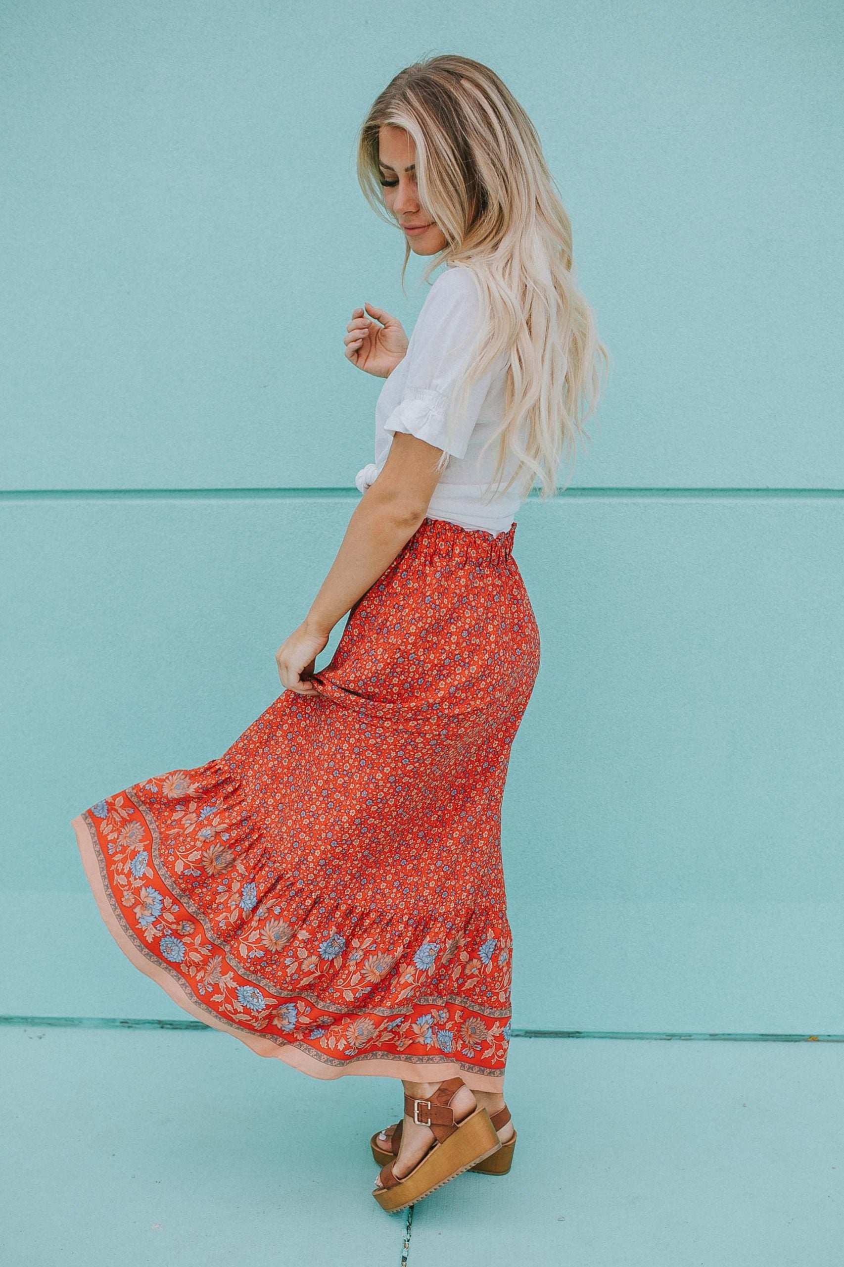 Andie Floral Maxi Skirt