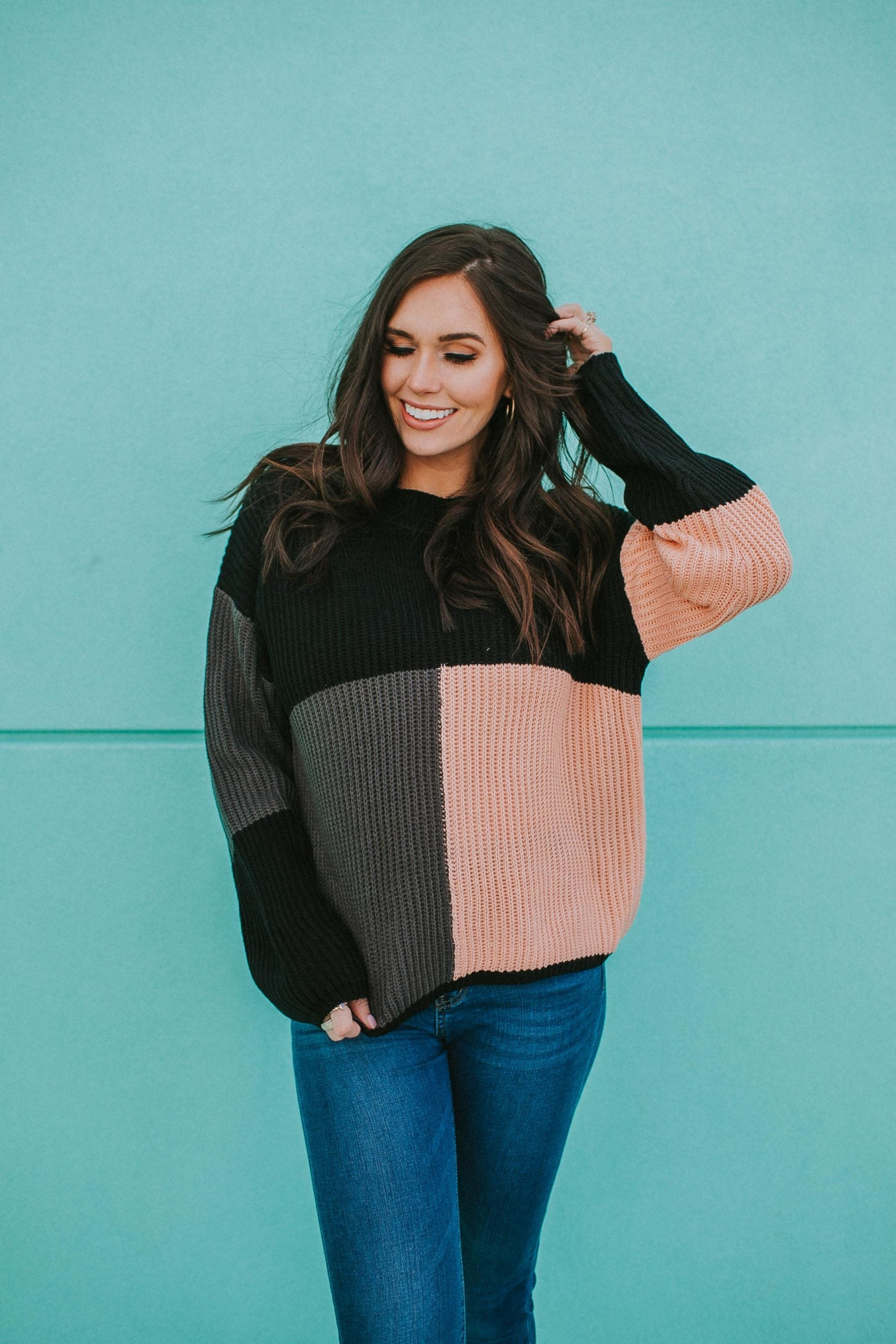 Demi Colorblock Sweater