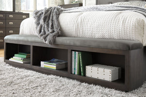 Hyndell Upholstered Panel Bed with Storage