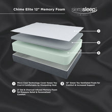 12 Inch Chime Elite Memory Foam Mattress in a box