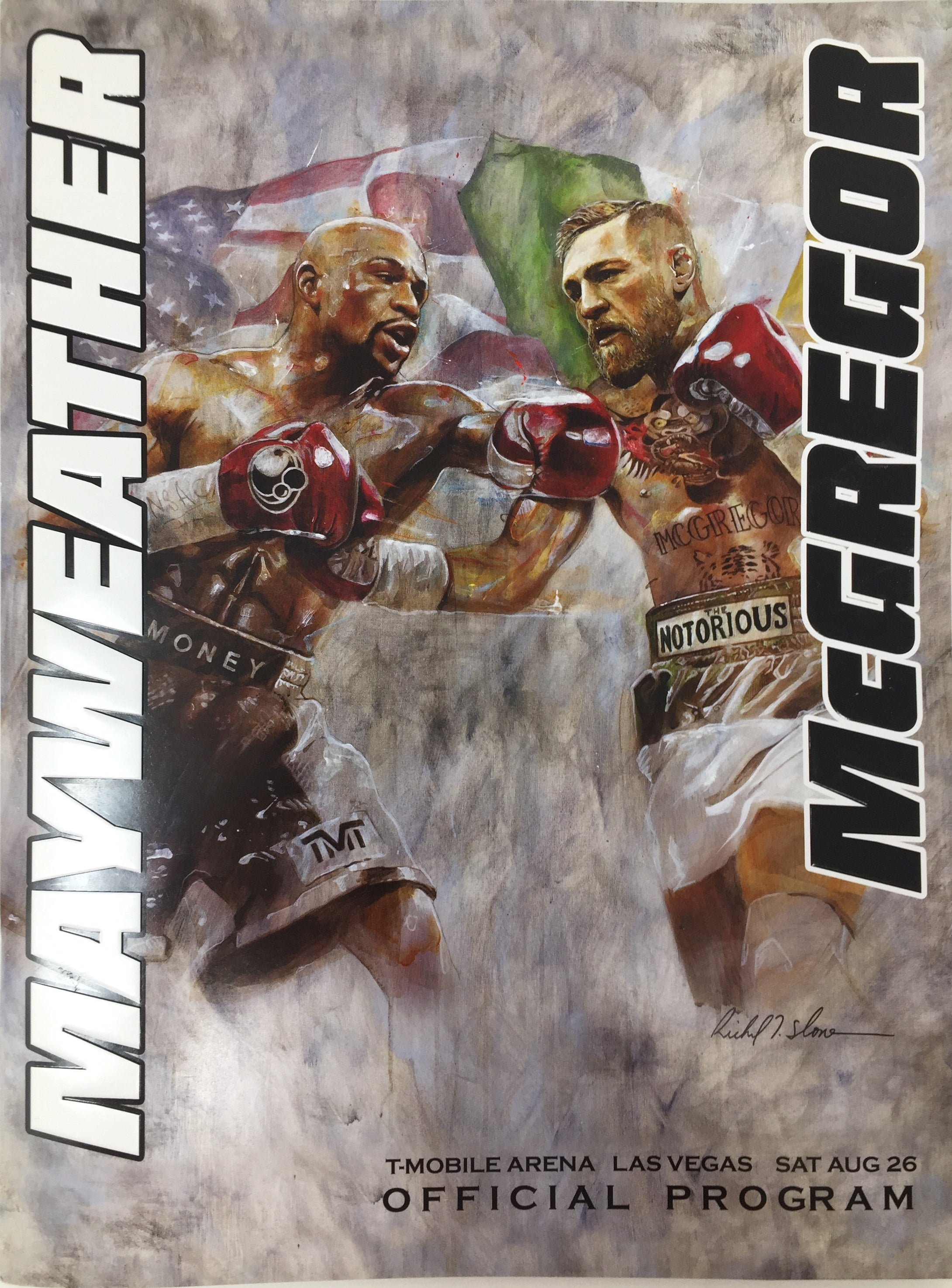 Floyd Mayweather Jr. vs. Conor McGregor Official Fight  Program