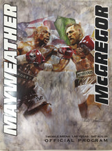 Load image into Gallery viewer, Floyd Mayweather Jr. vs. Conor McGregor Official Fight  Program Poster Combo