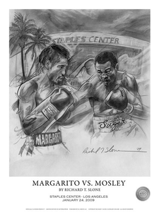 MARGARITO vs MOSLEY Official Onsite fight poster by Richard T. Slone