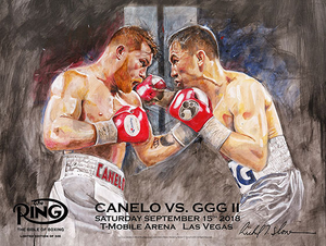 CANELO vs GGG 2 Official Onsite fight poster by Richard T. Slone