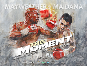 MAYWEATHER vs MAIDANA Official Onsite fight poster by Richard T. Slone