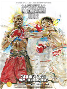 MAYWEATHER vs ORTIZ Official Onsite fight poster by Richard T. Slone