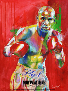 Floyd Money Mayweather Official Mayweather Promotions poster by Richard T. Slone