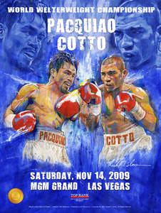 PACQUIAO vs COTTO Official Onsite fight poster by Richard T. Slone