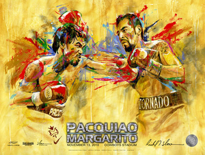PACQUIAO vs MARGARITO Official Onsite fight poster by Richard T. Slone