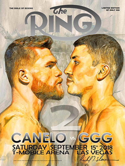 CANELO vs GGG 2 FACEOFF Official Onsite fight poster by Richard T. Slone
