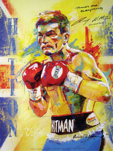 RICKY HITMAN HATTON Official Licensed poster for the Castillo fight by Richard T. Slone
