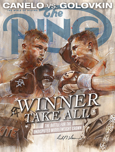 CANELO vs GOLOKIN 1  Official Onsite fight poster by Richard T. Slone