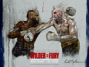 TYSON FURY vs DEONTAY WILDER II, Official Onsite fight poster by Richard T. Slone