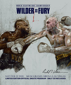 Wilder Fury II Limited Edition Official Onsite Program-Only 125 Released (Poster Combo)