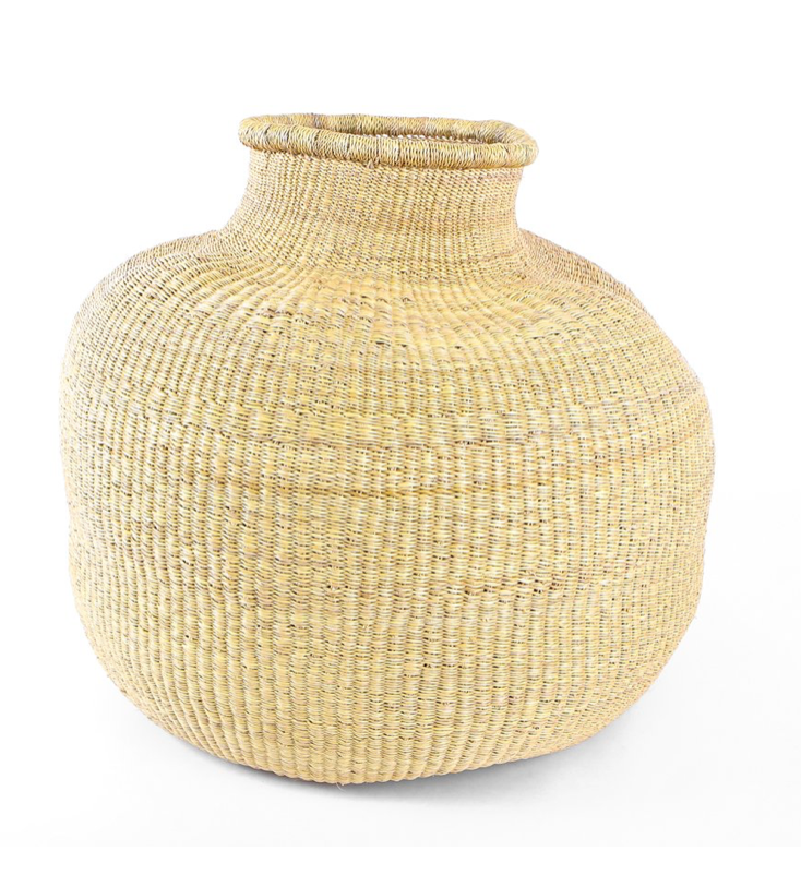 Natural Ghana Floor Pot - 18""