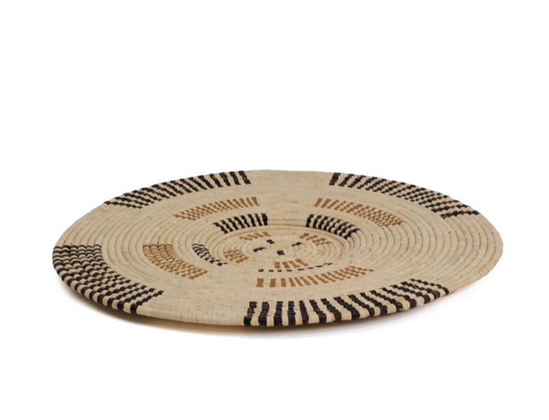 Eden Banana Bark Woven Wall Art Plate - 22""
