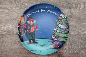 Santa's Helper Cookie Plate- Partridge