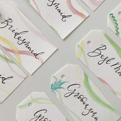 Calligraphy labels wedding