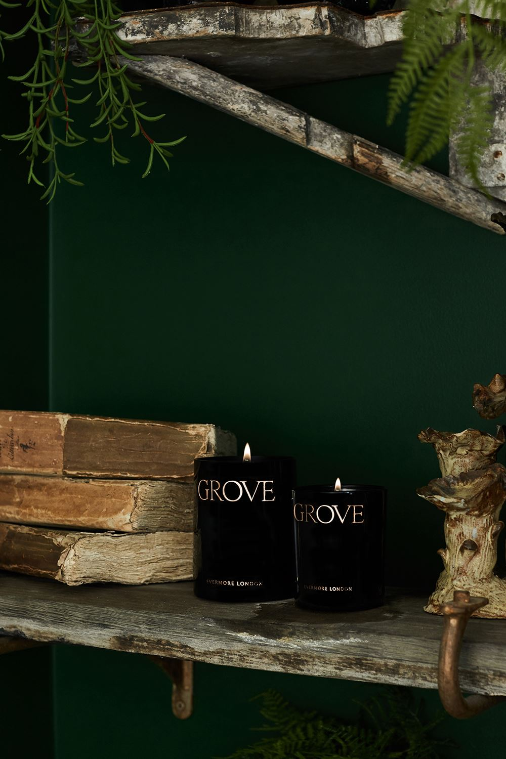 Grove Scented Candle - Earth & Ancient Pine Candles Evermore
