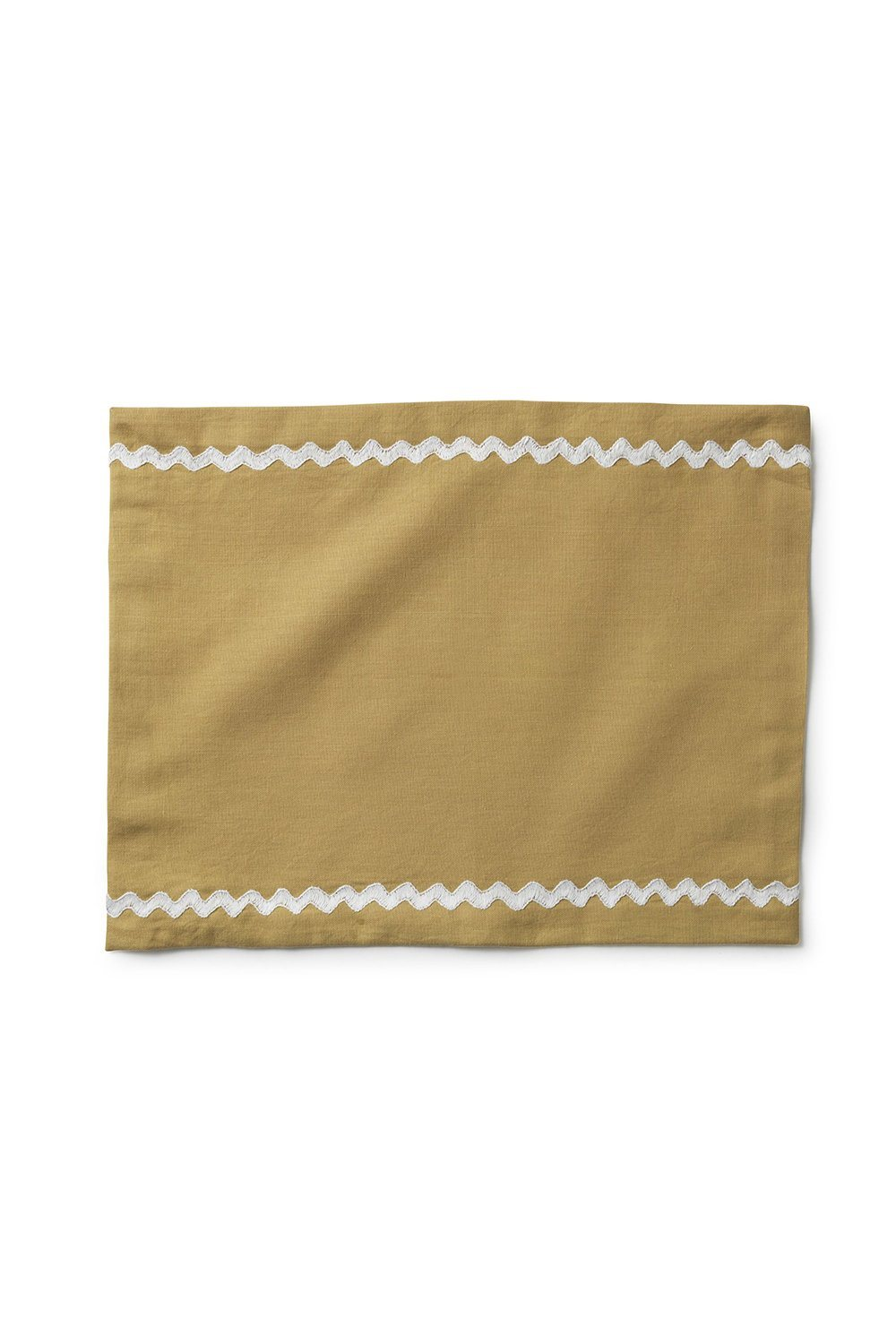 Hand-embroidered zig-zag placemat - Sand Soft Furnishings Jore Copenhagen